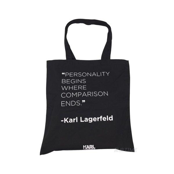 KARL LAGERFELD 卡爾 品牌包 黑皮TIME 13618