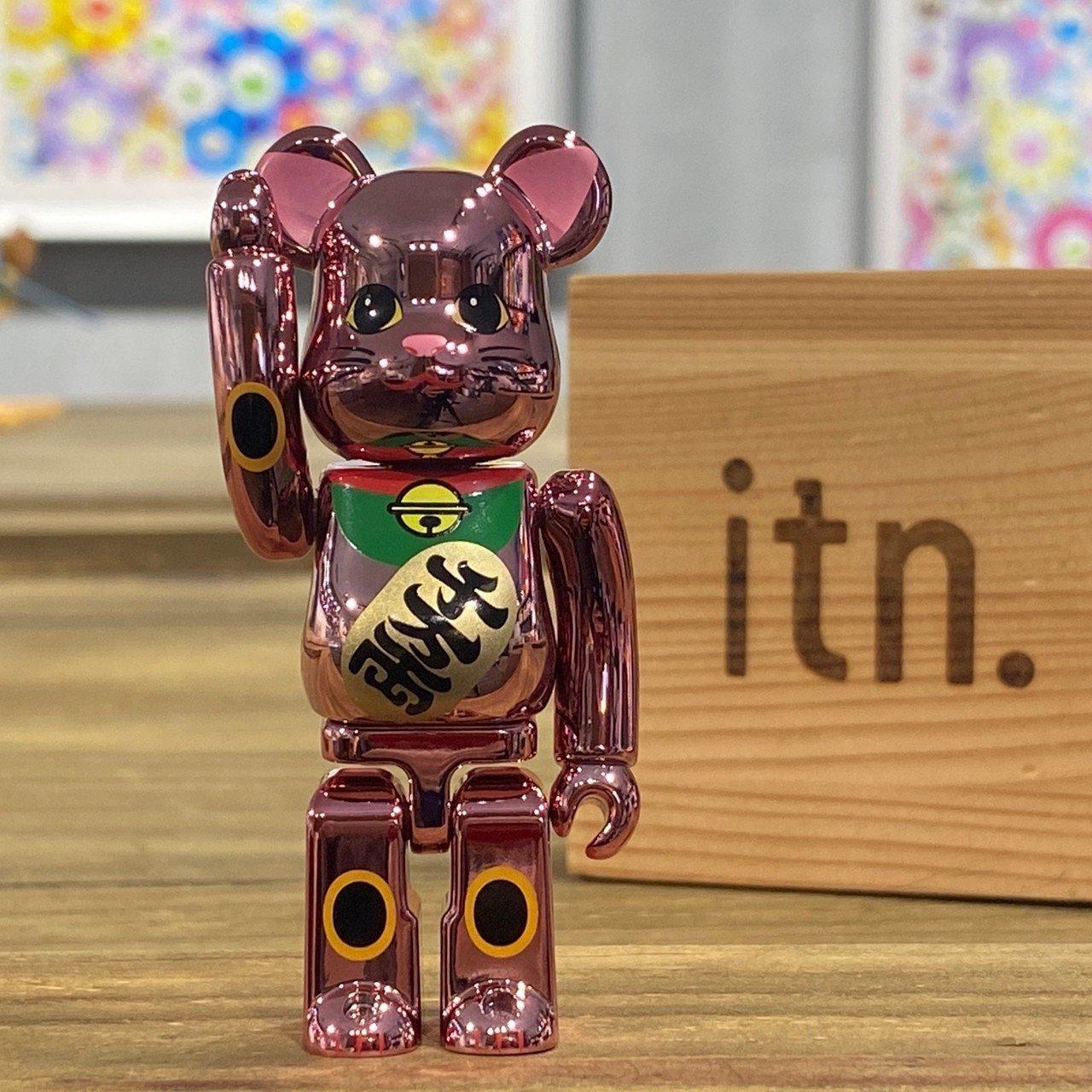 BE@RBRICK 晴空塔限定 招財貓 電鍍 粉色 100%