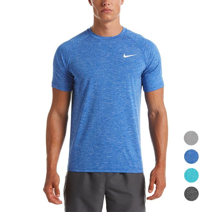 NIKE Heather 成人男性機能防曬T恤 短袖上衣 抗UV UPF 40+ DRI-FIT NESSA589