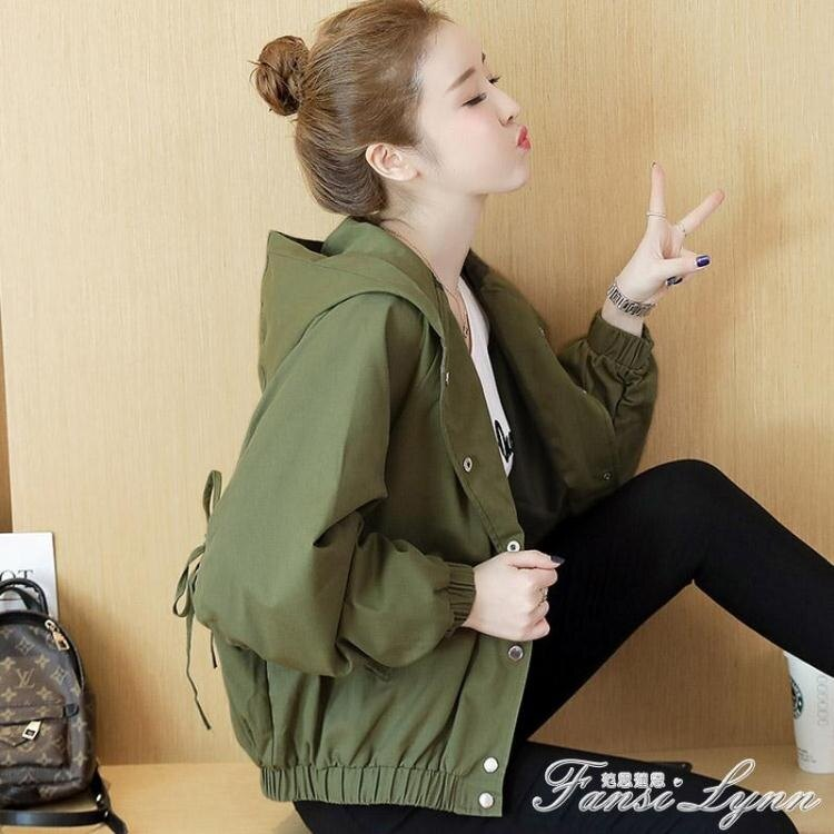風衣短款外套女2020秋裝新款韓版寬鬆學生bf風開衫外套港味夾克衫