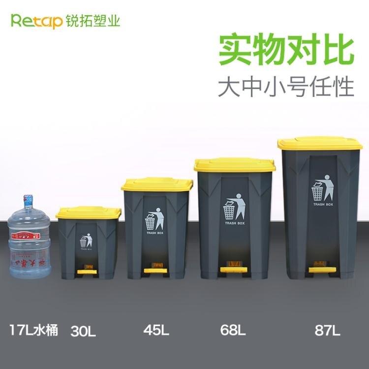 垃圾分類銳拓大垃圾桶大號腳踩腳踏式戶外環衛商用帶蓋家用廚房分類垃圾箱 交換禮物 雙十二購物節
