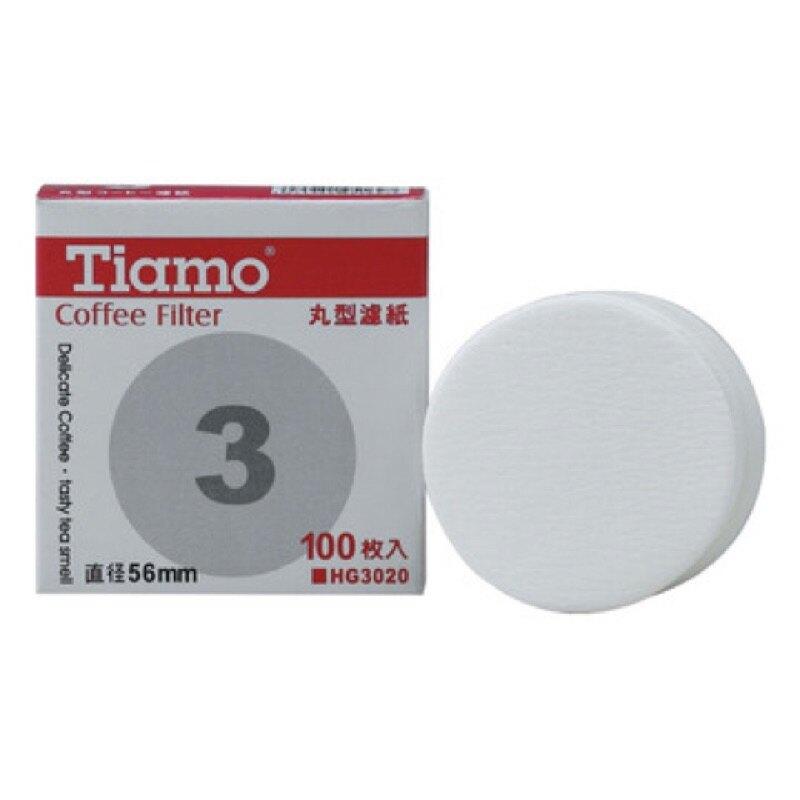 Tiamo 丸型濾紙 圓型濾紙 100枚入/盒 3/6/9/90號 冰滴壺 摩卡壺可使用 『93Coffee』