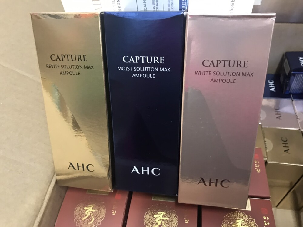 潼漾小舖 韓國 ahc 新時空瞬吸精華液 100ml 金瓶(緊緻)/粉紅瓶(美白)/藍瓶(保濕)