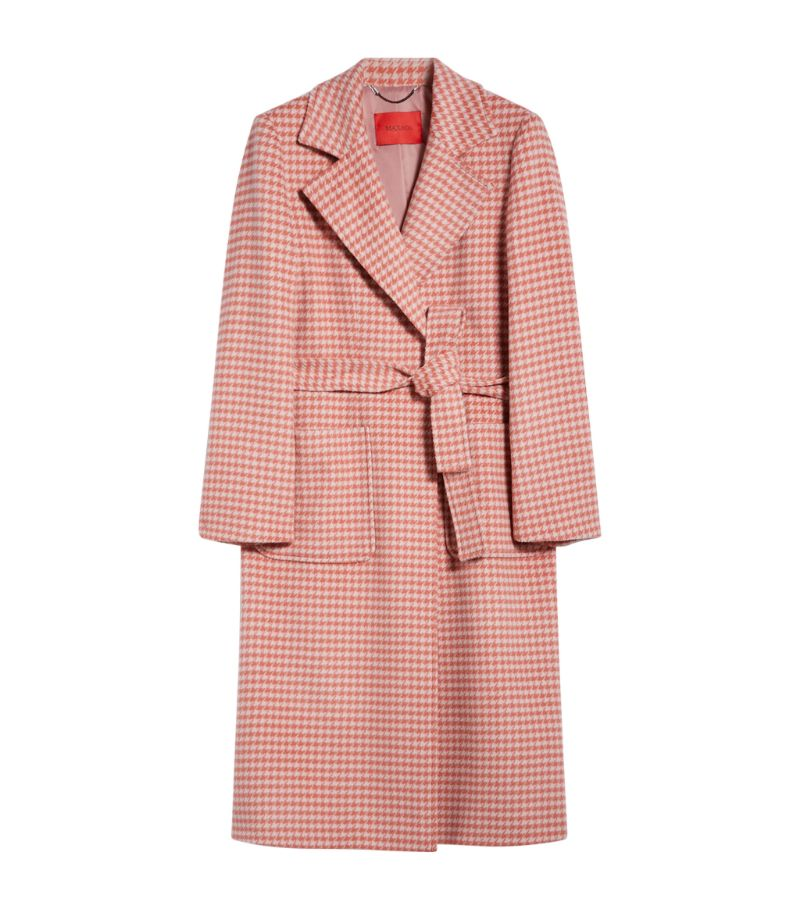 Max & Co Wool Gingham Runaway Coat