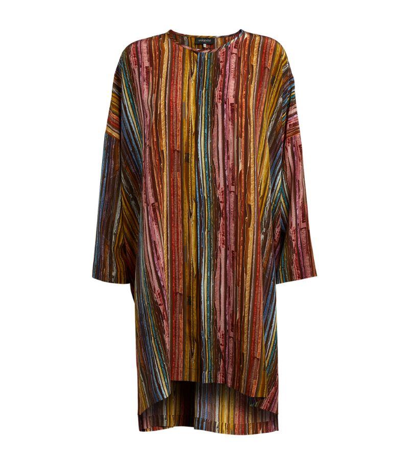 Eskandar Silk Pleated Blouse