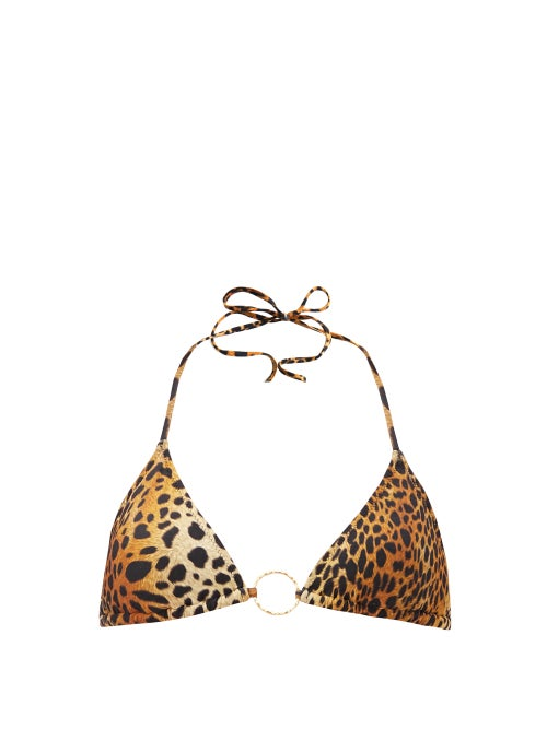 Melissa Odabash - Miami Cheetah-print Triangle Bikini Top - Womens - Animal
