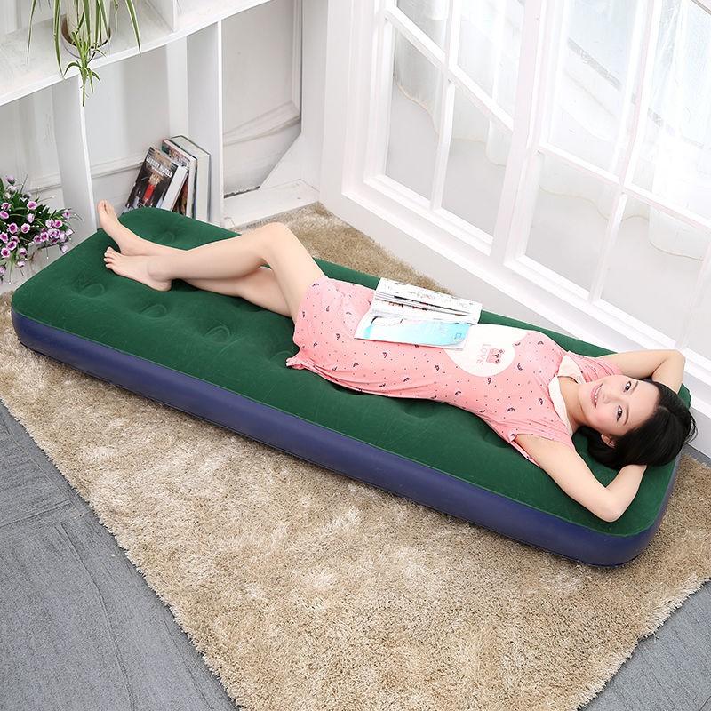 送充氣泵加大單人懶人充氣床 加厚家用午休床 折疊戶外便攜氣墊床