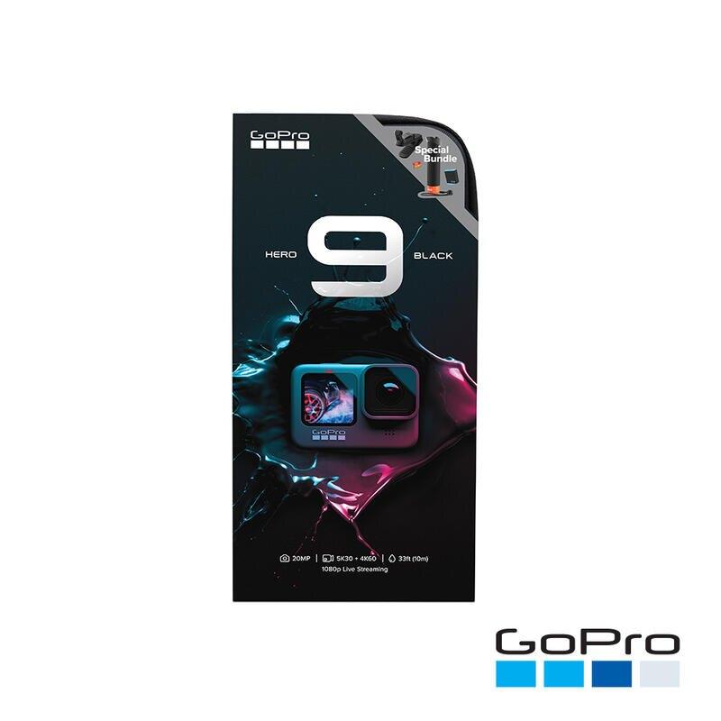 【中壢NOVA-水世界】GoPro【HERO 9 BLACK Vlog 自拍假日組合】握把+32G+電池+磁吸夾 公司貨