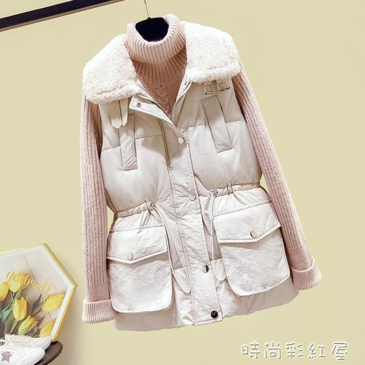 羽絨棉馬甲女秋冬季2020新款韓版中長款羊羔毛坎肩馬夾背心外套