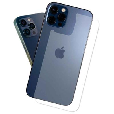 (贈防指紋邊膜2組)iPhone 12 Pro Max 6.7吋 抗污防指紋超顯影機身背膜(2入)