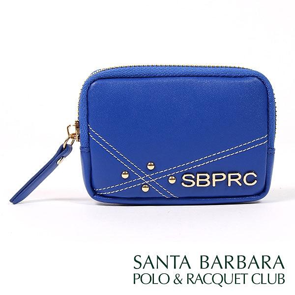 【南紡購物中心】SANTA BARBARA POLO & RACQUET CLUB - 南十字星小零錢包(寶藍色)