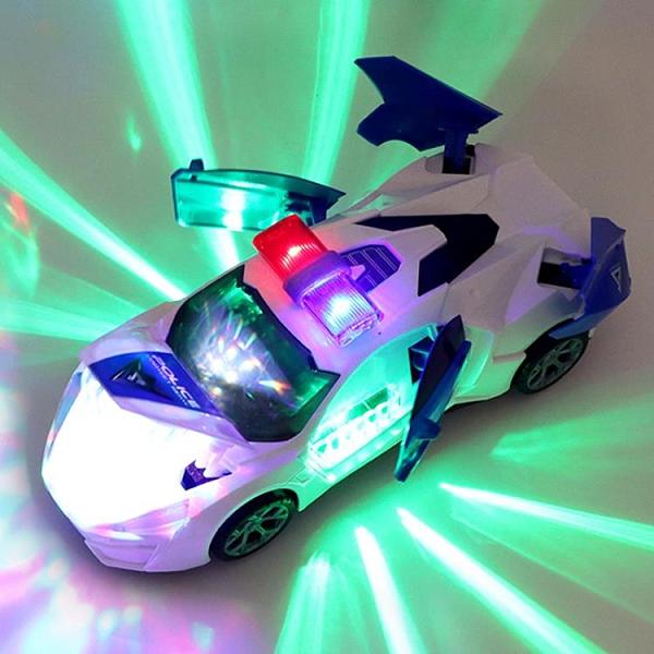 玩具賽車 電動跳舞變形旋轉萬向警車男孩玩具抖音同款兒童小孩女孩小汽車【快速出貨八折鉅惠】