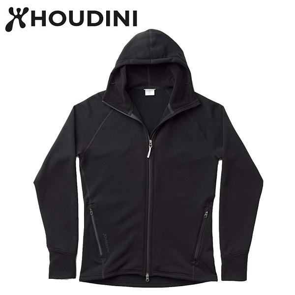 瑞典【Houdini】M`s Power Houdini 男款Power Stretch® Pro™保暖外套 純黑/純黑