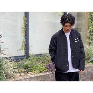 【罐頭選貨】NIKE NSW SWOOSH JKT 黑色 立領 鈕扣 棒球外套 防風 cu3923-010