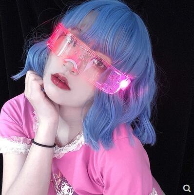 抖音LED護目鏡男女道具蹦迪眼鏡發光拍照裝備未來科技感爆閃網紅SUPER 全館特惠9折
