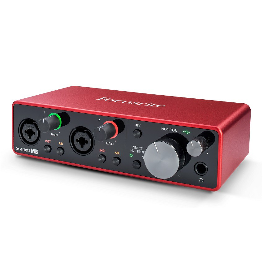 Focusrite Scarlett 2i2 3rd Gen USB 錄音介面 總代理公司貨 保固三年