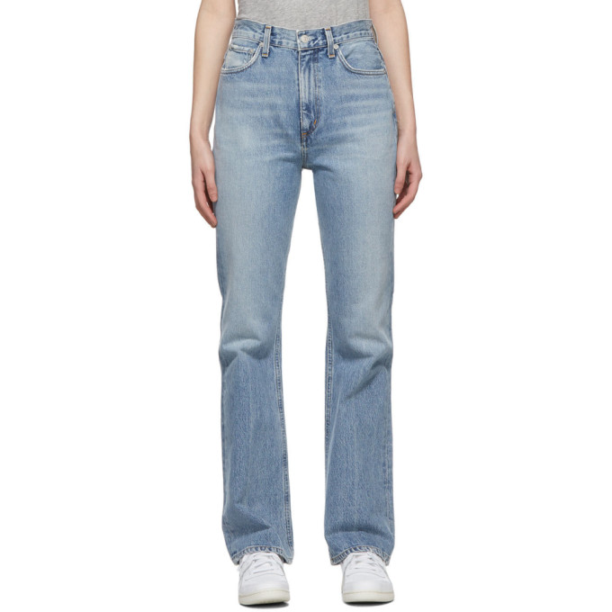 AGOLDE 蓝色 Vintage 喇叭牛仔裤