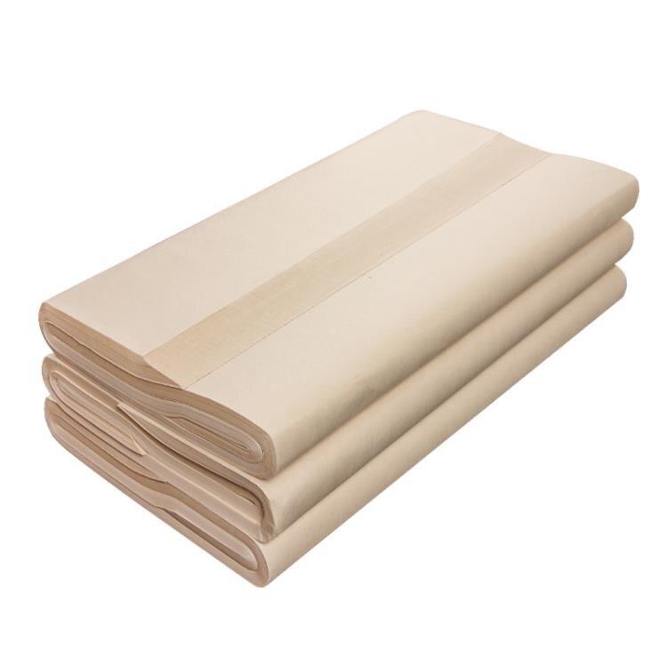 宣紙 仿古手工毛邊紙無格書法練習紙半生半熟
