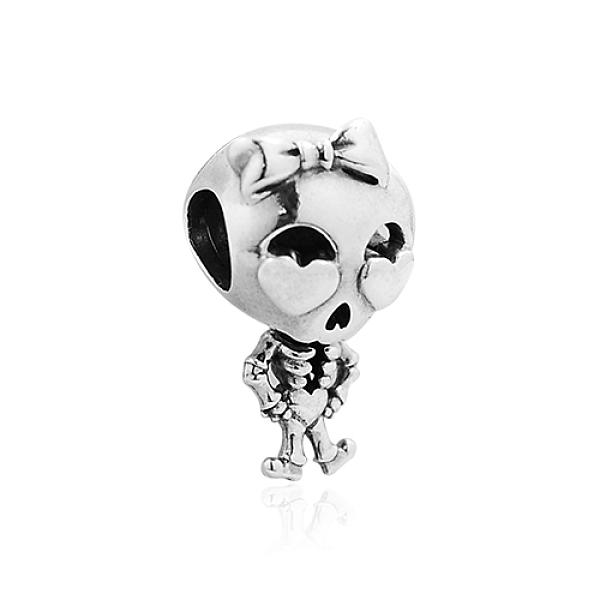 Pandora 潘朵拉 骷髏女孩 垂墜純銀墜飾 799070C00
