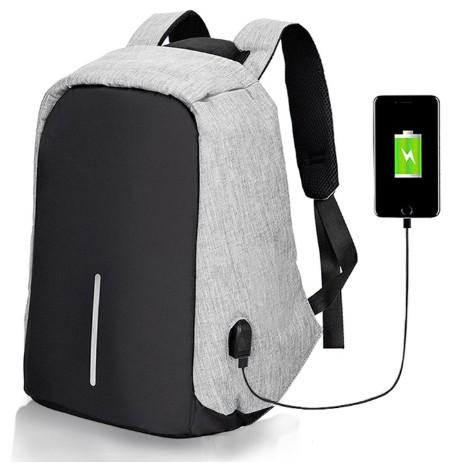 防盜包男女大容量防水電腦包 USB充電雙肩包