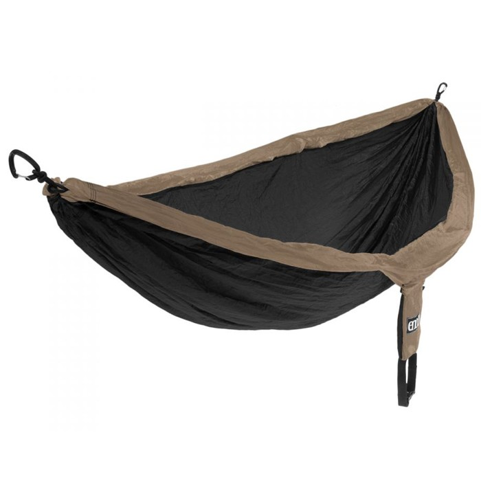 【野外營】美國 SH010 單人吊床 卡其/黑 + 吊床繩環 沙灘/戶外/野餐可用/