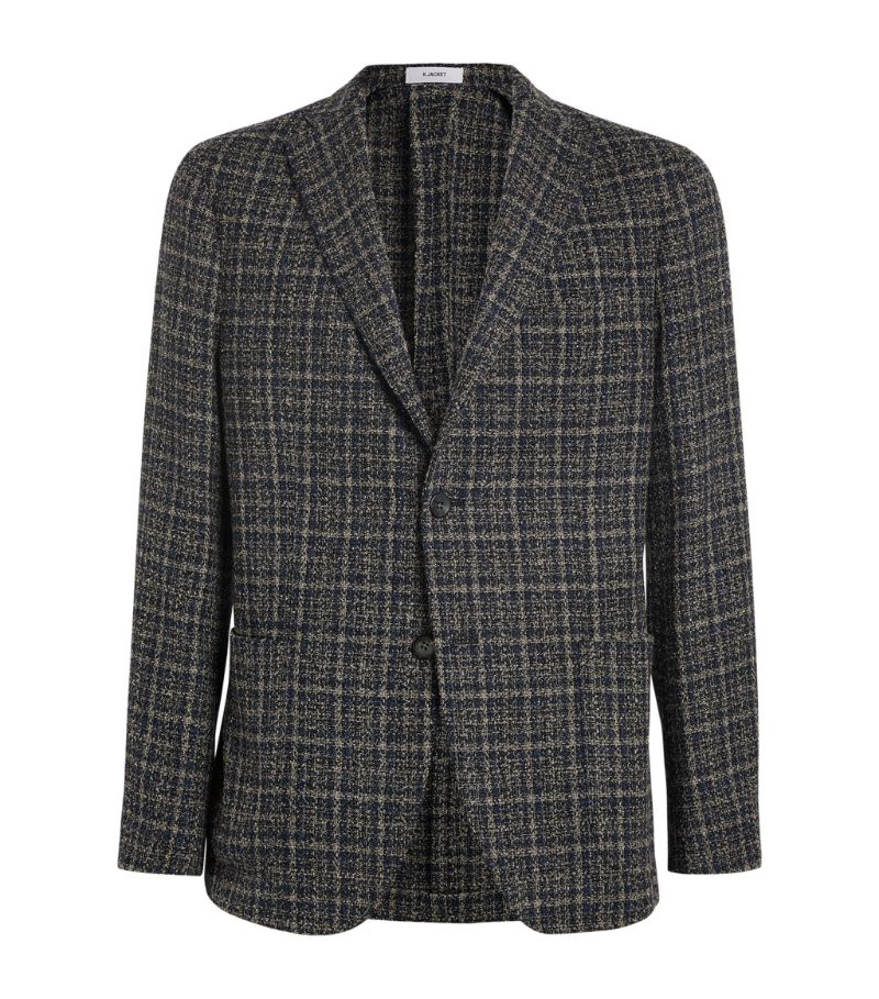 Boglioli Check Single-Breasted Blazer
