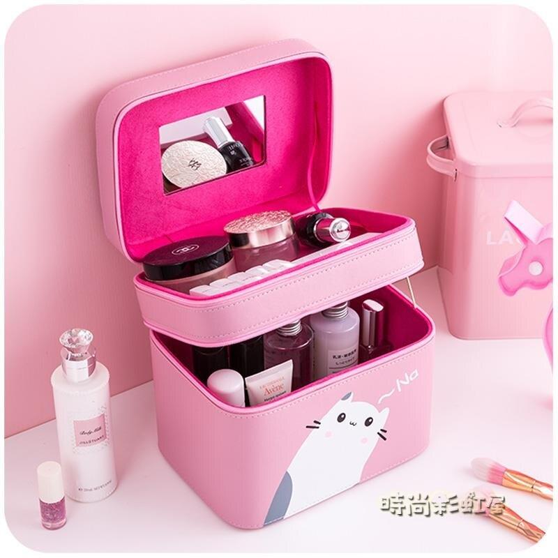 化妝箱 化妝包 網紅大容量便攜少女ins風超火收納盒護膚品箱手提可愛大號