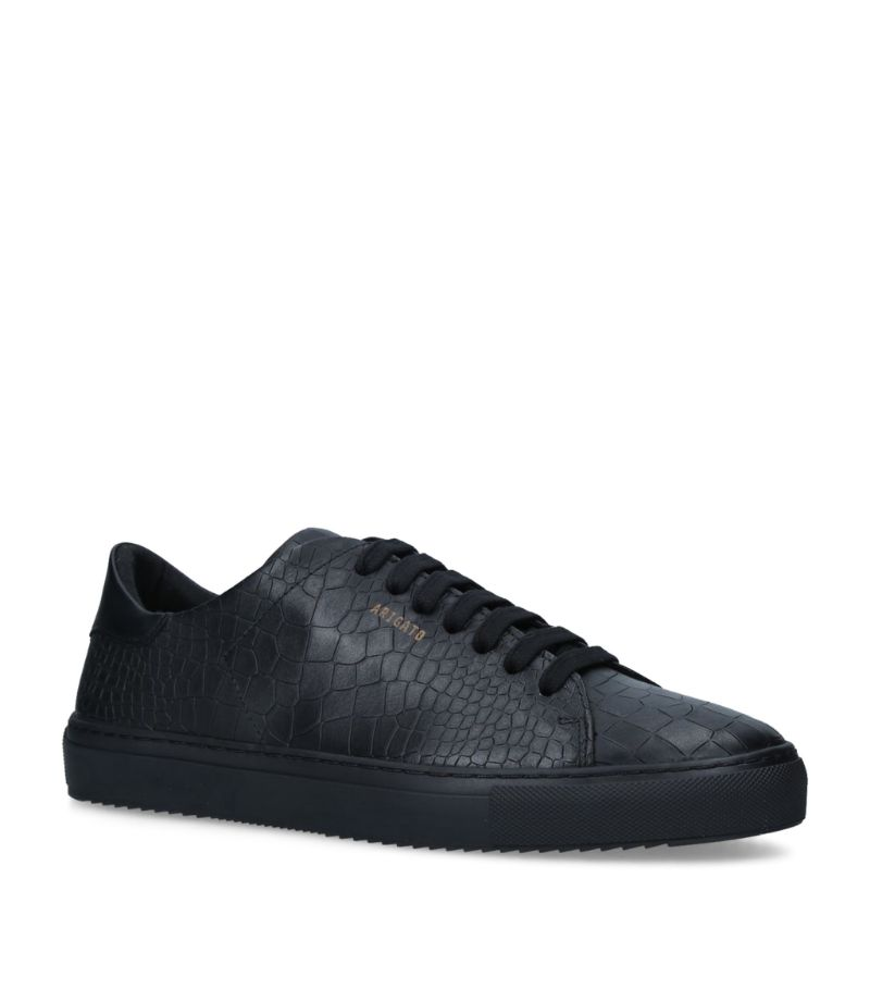 Axel Arigato Leather Croc-Embossed Clean 90 Sneakers