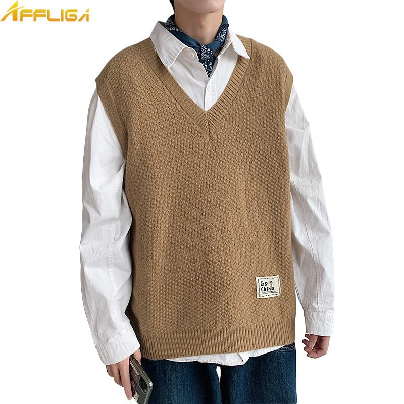 港風針織背心 V領毛線衫 毛衣背心 M-5XL 大尺碼背心 韓版學院風背心上衣 毛衣馬甲 背心外套 休閒學生毛線衫