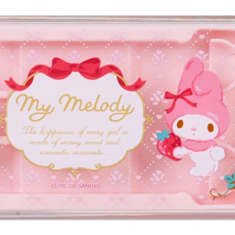 小禮堂 美樂蒂 日製 滑蓋三件式餐具組 叉匙筷 兒童餐具 環保餐具 (粉 草莓)