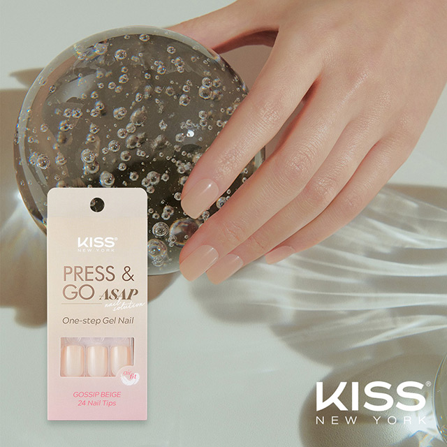 【美國 KISS New York】ASAP超薄款 漸層頂級光療指甲貼片(法式優雅 KKPA03KA)(24片)