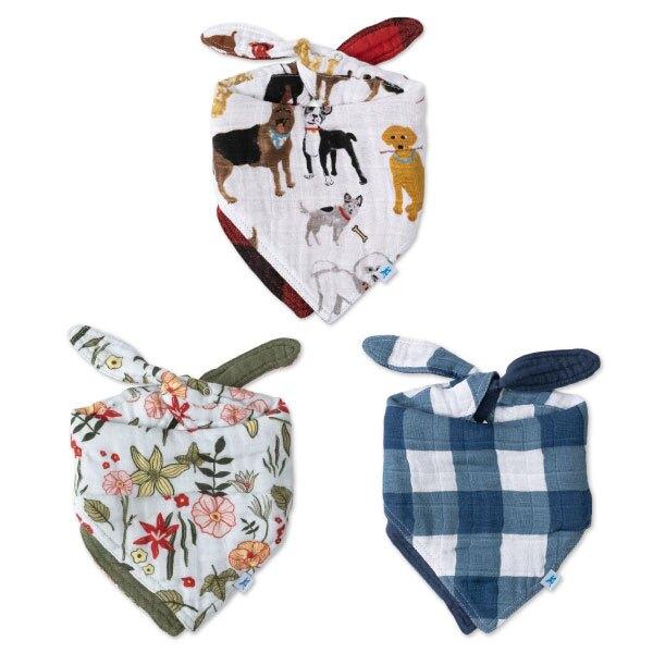 美國 Little Unicorn 純棉雙面三角圍兜(1入)3款可選