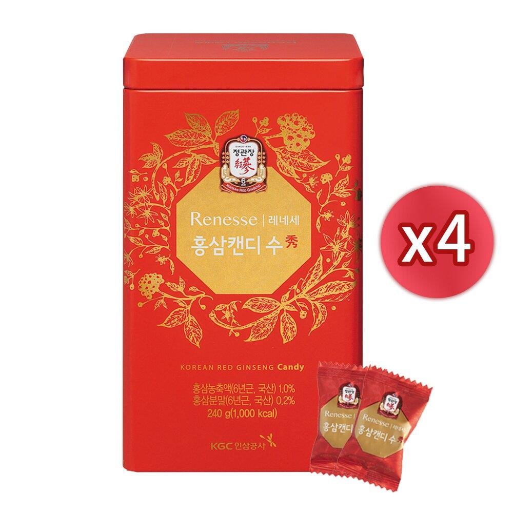 【正官庄】高麗蔘糖240gx4罐