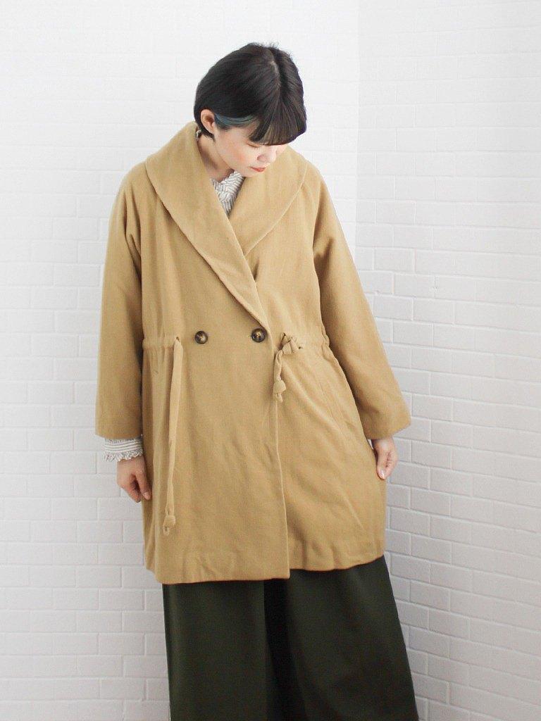 【換季特賣】秋冬日本製日系可愛橄欖黃薄羊毛古著大衣外套