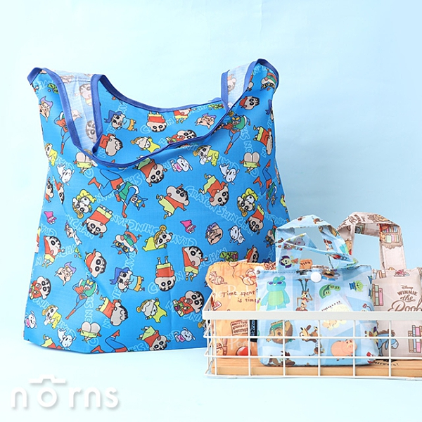 日貨折疊式環保購物袋- Norns 附小收納袋 Eco bag環保袋手提袋 蠟筆小新 迪士尼