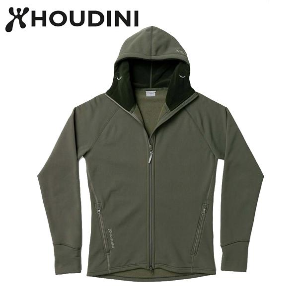 瑞典【Houdini】M`s Power Houdini 男款Power Stretch® Pro™保暖外套 柳樹綠