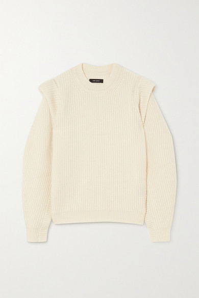 Isabel Marant - Bolton 罗纹羊绒羊毛混纺毛衣 - 米色 - FR44