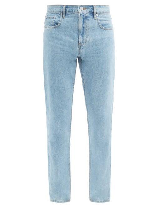 Burberry - Logo-tab Straight-leg Jeans - Mens - Blue