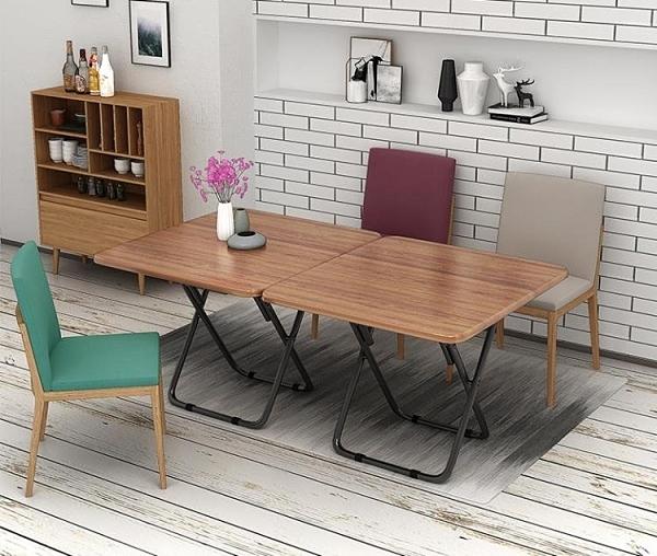 現貨 餐桌索樂折疊桌簡易小方桌家用折疊餐桌便攜吃飯桌正方形飯桌簡約桌子【2021新年鉅惠】