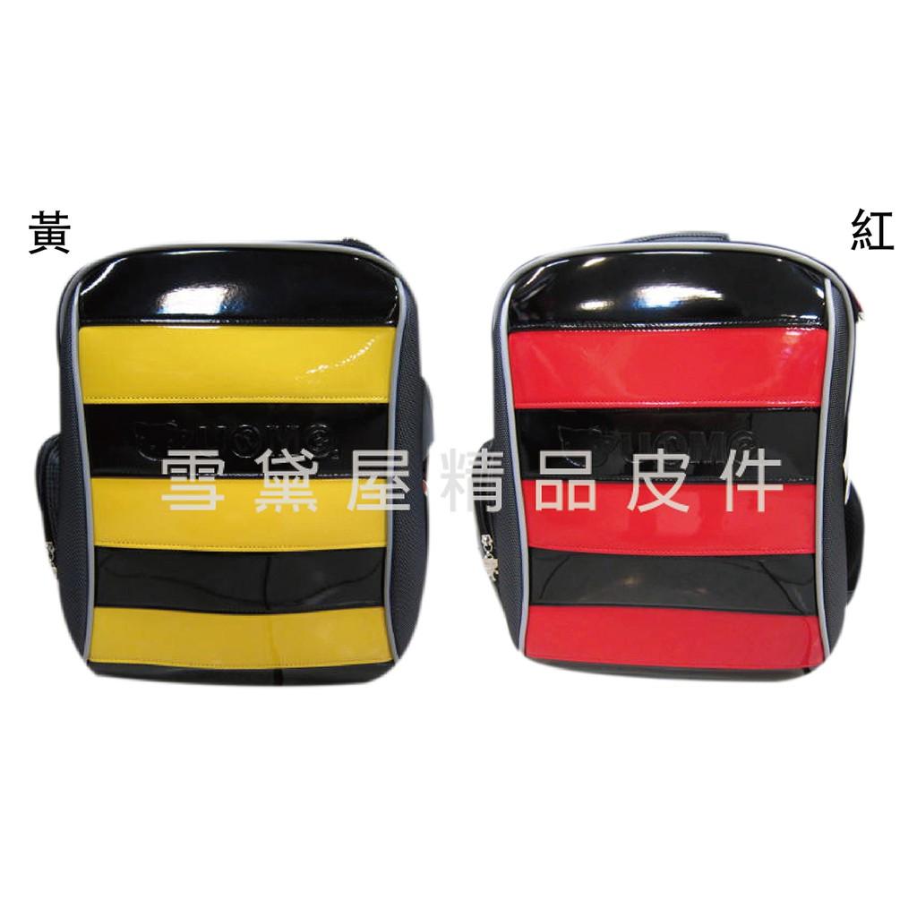 ~雪黛屋~UNME 後背護脊透氣書包可A4資料夾二層主袋台灣製造超輕防水尼龍布加強保護脊椎正版授權中低年級適用U3096