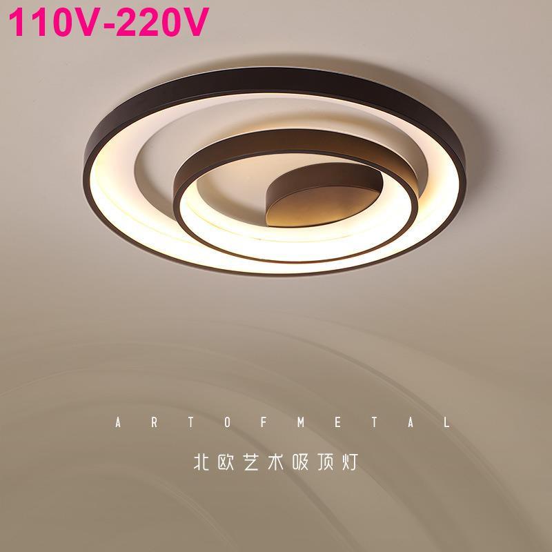 ★110V-220V★新款吸頂燈led簡約現代臥室燈北歐ins網紅燈創意個性燈具批發2020
