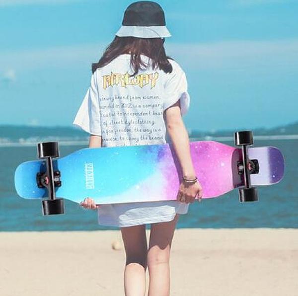 滑板 初學者滑板長板女生男生專業成人刷街舞板青少年四輪滑板車TW【快速出貨八折鉅惠】