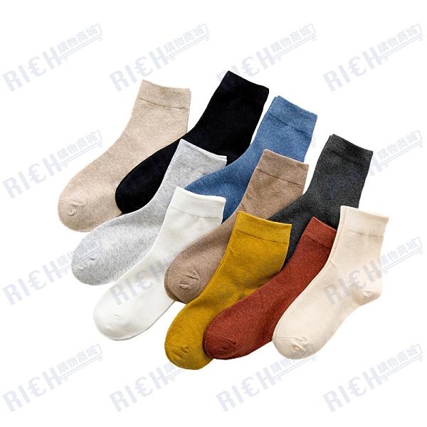 黑色襪子女中筒襪日系純色ins潮流韓國學院風可愛百搭秋冬季長襪