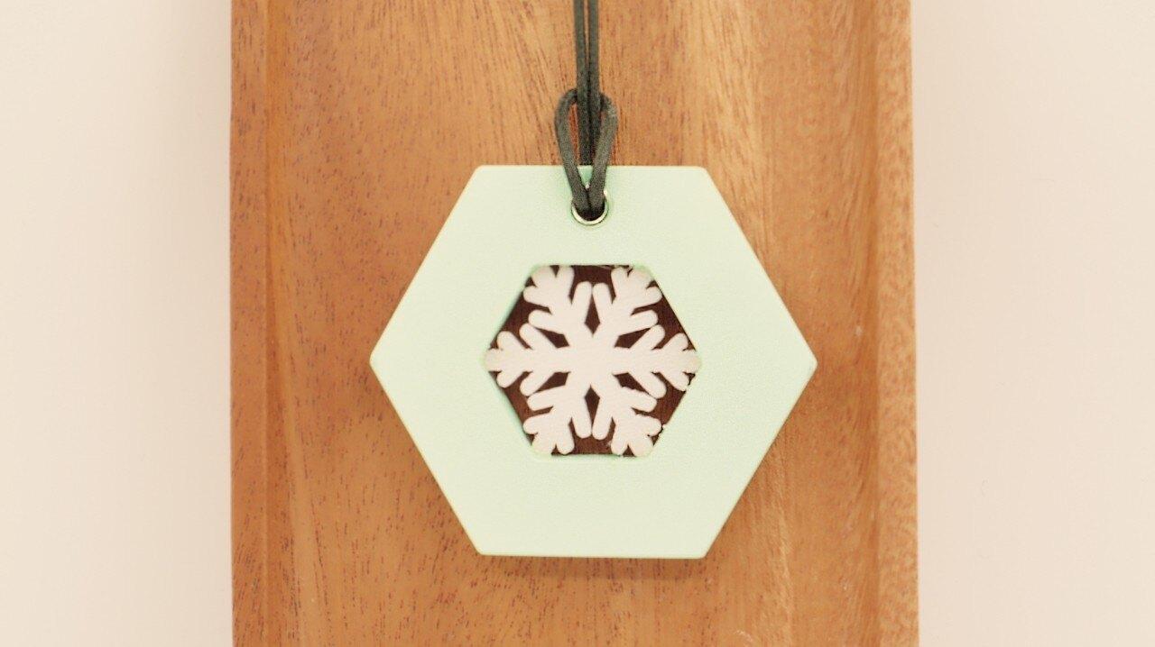 【歐舒香】手作擴香石~空心六角形之白色雪花系列 (共二色,雪花款式隨機出貨)