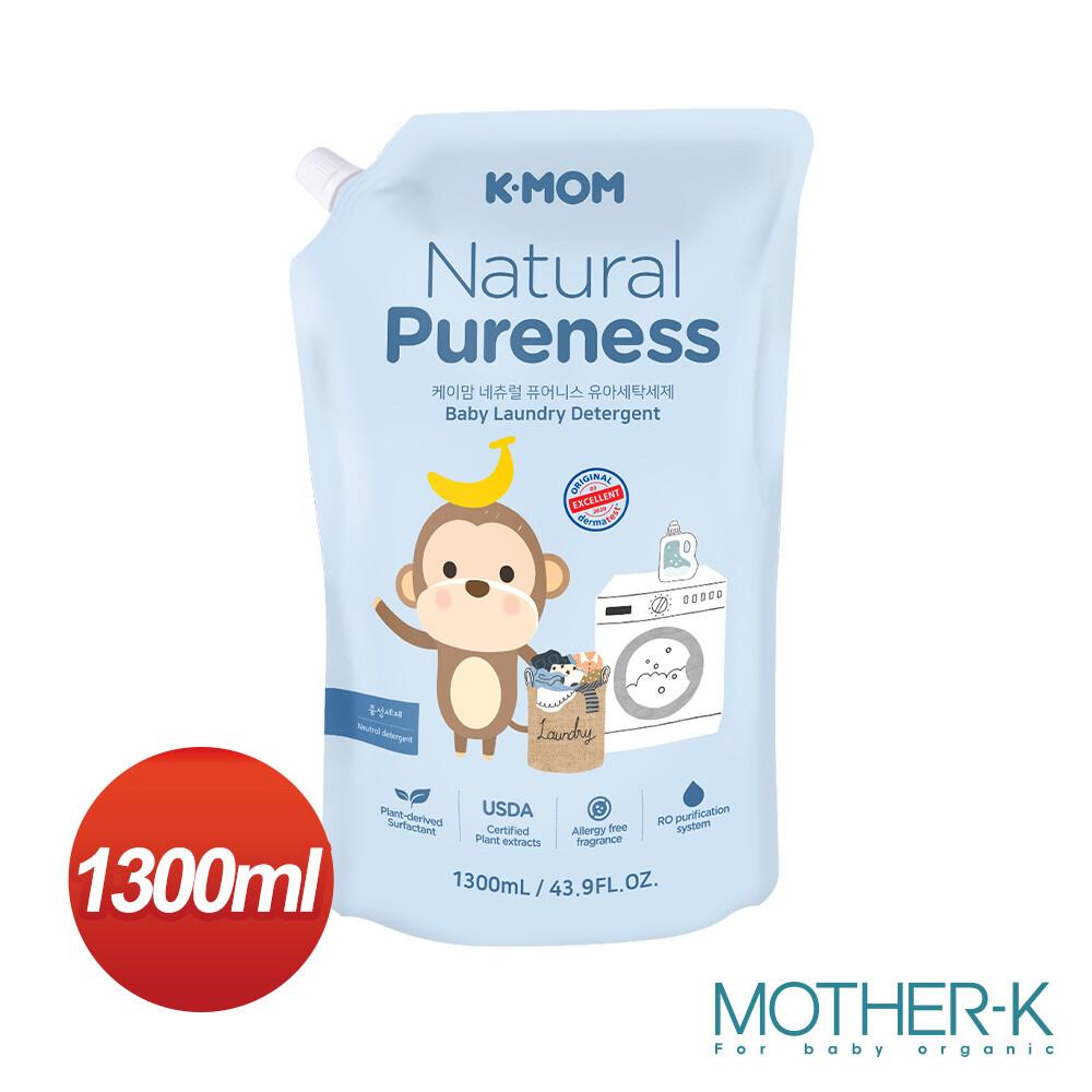 韓國mother-k 有機幼兒洗衣劑/洗衣精(補充包) 1300ml