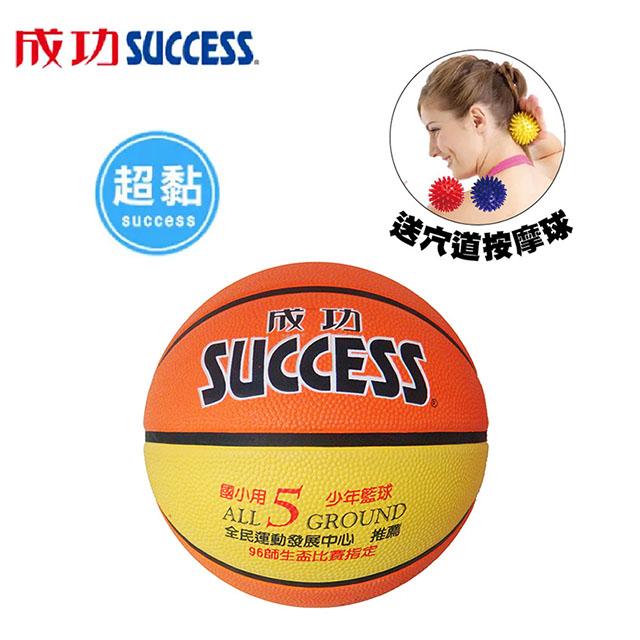 免運 成功 國小專用 深溝少年籃球 S1150(附球網、球針)送穴道按摩球S4707 【2組】