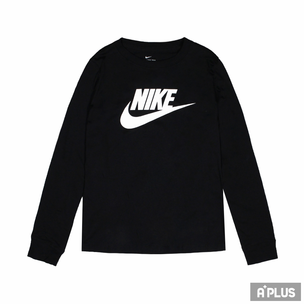 NIKE 女圓領長袖T AS W NSW TEE ESSNTL LS ICN FTR 運動 慢跑 黑-BV6172010