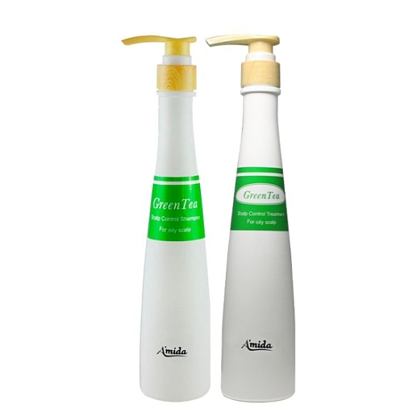 AMIDA綠茶洗髮精400ML+綠茶護髮素400ML