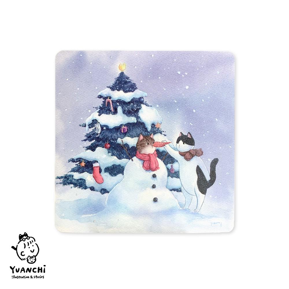 【YUANCHi】貓咪堆雪人|聖誕卡片