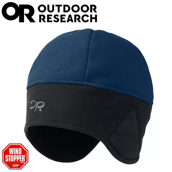 【Outdoor Research 美國 WIND WARRIOR防風透氣保暖護耳帽《藍/黑》】243548/保暖帽